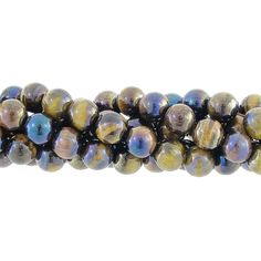 8mm Rainbow Coated Tiger Eye Gemstone Bead Strand