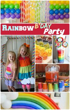 Rainbow Birthday party ideas: 1.Rainbow birthday party Decor 2.Rainbow Cake 3.Rainbow Birthday Invitations 3. Rainbow Cakes 4.Birthday party Supplies & More