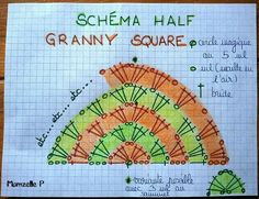 Transcendent Crochet a Solid Granny Square Ideas. Inconceivable Crochet a Solid Granny Square Ideas. Point Granny Au Crochet, Poncho Au Crochet, Crochet Shawl Diagram, Crochet Baby Pants, Mode Crochet, Granny Square Crochet Pattern, Crochet Squares, Crochet Chart, Crochet Motif