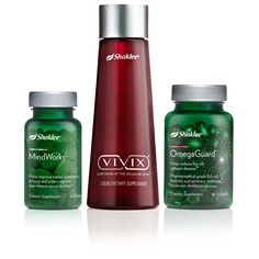 The Healthy Solutions Regimen is designed with  products to address America's top health concerns: heart health, brain function and aging well. This regimen includes Vivix®, MindWorks™ and OmegaGuard® -- Vivix is designed to help slow cellular aging naturally with potent antioxidant blend --   MindWorks key ingredients help improve memory and focus, and protect against age-related mental decline  --   OmegaGuard helps reduce the risk of heart disease with pharmaceutical grade omega-3 fatty…