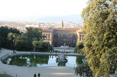 Boboli Gardens located behind the Pitti Palace. You can spend hours getting lost in the gorgeous gardens that offer sculptures, fountains, and a great view of Florence.