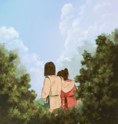Spirited Away / Sen to Chihiro no Kamikakushi (千と千尋の神隠し) Studio Ghibli Art, Studio Ghibli Movies, Hayao Miyazaki, Spirited Away Haku, Grave Of The Fireflies, Chihiro Y Haku, Live Action, The Cat Returns, Kohaku