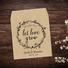 Personalized Seed Packets Seed Favors Wedding by MinikinGifts