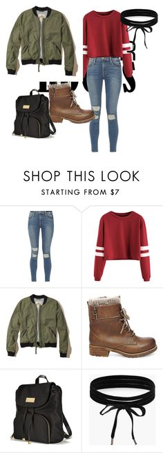 """""""School casual"""" by simran07031981 ❤ liked on Polyvore featuring Frame, Hollister Co., Steve Madden, Victoria's Secret and Boohoo"""