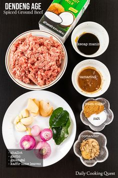 Indonesian dendeng age is ground beef cooked with plenty of spices, palm sugar, and kecap manis. This sweet and spicy beef is the perfect side for nasi gurih or steamed rice. Thai Cooking, Cooking Recipes, Cooking Tips, Dishes To Go, Beef Dishes, Savory Rice, Indonesian Cuisine, Beef And Rice, Malaysian Food