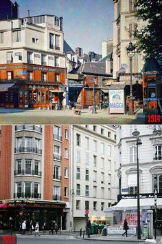 Paris Then and Now: Rue du Pas-de-la-Mule - Boulevard Beaumarchais