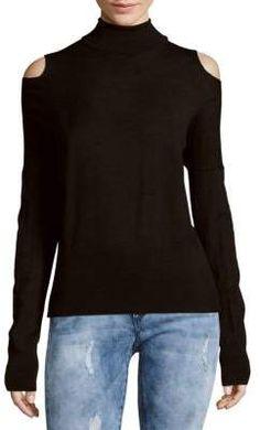 Solid Cold-Shoulder Sweater