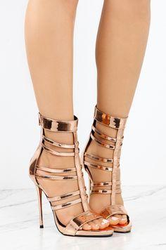 7dabb7e4a30d Haute Strike - Rose Gold Rose Gold High Heels, Hot High Heels, Dressy Shoes