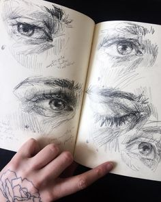 elly smallwood: Photo - - elly smallwood: Photo PORTRAIT Travel journal pages and scrapbook inspiration – ideas for travel journaling, art journaling, and scrapbooking. Drawing Sketches, Pencil Drawings, Art Drawings, Drawing Eyes, Sketching, Eye Sketch, Drawing Journal, Sketch Journal, Journal Art