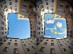 In his ongoing series entitled Sky Art, Thomas Lamadieu aka Roots Art (featured previously), takes skyward photos of buildings wherever he travels. Most of his images point directly upwards ...