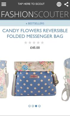 Reversible bag candy/flowers wow!