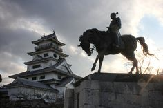 Statue of Toda Takatora, famed castle-builder, at Imabari Castle #castle #samurai