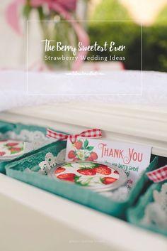 The Berry Sweetest Strawberry Wedding Ideas Ever / Tidewater and Tulle Strawberry Wedding, Wedding Strawberries, Wedding Blog, Dream Wedding, Wedding Ideas, Wedding Things, Wedding Inspiration, Bridal Shower Favors, Wedding Favors