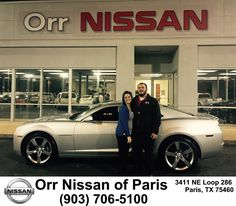 https://flic.kr/p/DLvovq | Congratulations Jessica on your #Chevrolet #Camaro from Nick Jones at Orr Nissan of Paris! | deliverymaxx.com/DealerReviews.aspx?DealerCode=J476