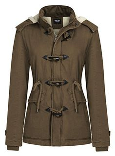 New Trending Outerwear: Wantdo Womens Toggle Duffle Coat Parka with Removable Hood(Coffee,US 6). Wantdo Women's Toggle Duffle Coat Parka with Removable Hood(Coffee,US 6)  Special Offer: $39.97  266 Reviews Zip-fly  Button-end jacket adds versatility to a fully adjustable parka coat. A multitude of pockets provide plenty of storage space. Adjustable tab closure at...