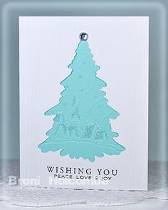 love the embossed tree w/glitter
