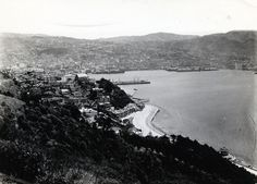 Wellington panorama from hill overlooking center of city in New Zealand, circa 1920. From the #LowellThomas Collection