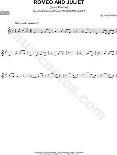 Romeo and Juliet Violin Sheet Music