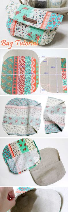 DIY Clutch Purse with a Magnet Clasp nice tutorial nice size. Photo Sewing…