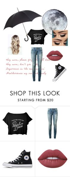 """""""Northern Downpour(Check The Description)"""" by itsyourgirllizzie ❤ liked on Polyvore featuring LOVA, Yves Saint Laurent, Converse, Lime Crime and Harrods"""
