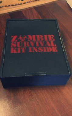 Zombie Survival Kit fun gift - DIY