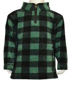 Loving this Green & Black Fleece Pullover - Infant, Toddler & Boys on #zulily! #zulilyfinds