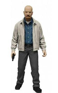 Figura Walter White chaqueta gris 15 cm. Edición exclusiva. Breaking Bad. Mezco Toys Estupenda figura exclusiva del icónico Walter White de 15 cm perteneciente a la exitosa serie de TV Breaking Bad. Perfecta para cualquier fan.
