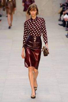 Cool like Karlie - Burberry Fall 2013 runway #fashionweek