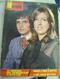 revista manchete - de 1972 - capa - Roberto Carlos e Nice