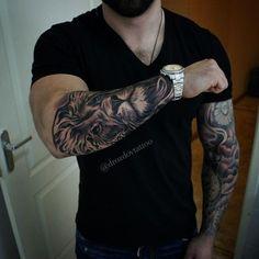 Tattoo leeuw sleeve