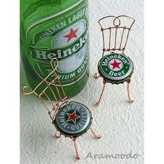 ♥ ~beer top chair~ 王冠チェア heineken beer #wire #wirecraft #craft #crafts #chair #handmade #heineken #heinekenbeer #beercap #beercaps #王冠 #ワイヤークラフト #ハイネケン #ワイヤークラフト雑貨