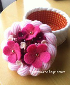Blossom Flower Felt Cake by Teerada on Etsy