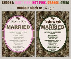 This but in the orange. Hunting Camo Wedding Invitation $20.00