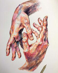 Une sélection des délicates illustrations de l'artisteNoel Badges Pugh, avec desétudes centrées sur les mains et les fleurs. De magnifiques images aux c