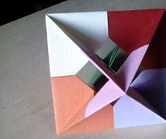 Modular Origami Windowed Octahedron : This is an instructable on how to make an origami octahedron with windows. Bunny Origami, Origami Bowl, Origami Mouse, Origami Star Box, Origami Fish, Origami Animals, Origami Stars, Money Origami Tutorial, Origami Love Heart