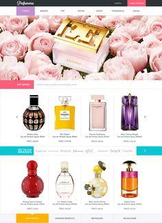 Perfummera #site #design on Behance #UI #UX