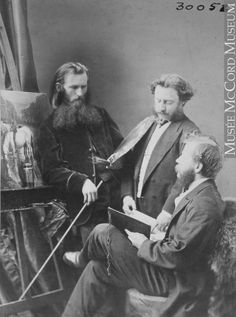 """Although """"William Notman"""" is stamped on thousands of photographs, it indicates the studio and not necessarily photographs taken by William Notman himself. """"Adolphe Vogt, John Fraser and Henry Sandham, Notman Staff,"""" Montreal, 1868, McCord Museum. Canada, A Decade, Photographs, Photos, Online Art, Montreal, 19th Century, Book Art, Bridge"""