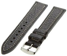 Hadley-Roma Men's MSM894RA-200 20-mm Black Genuine Leather Watch Strap Hadley Roma. $31.20. Heavy cut-edge construction, hypo-allergenic stainless steel buckle. Band width: 20 mm (width of band at the case lugs). Water-resistant leather and lining. Genuine Shrunken leather. Handcrafted in the U.S.A.. Save 11%!