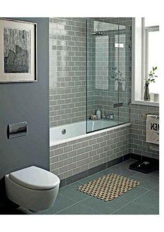 42 Pleasant Small Bathroom Shower With Tub Tile Design Ideas - Page 5 of 43 Bathroom Tile Designs, Bathroom Design Small, Bathroom Interior Design, Bathroom Tiling, Tub Tile, Wickes Bathroom Tiles, Bathtub Paint, Bathroom Tubs, Luxury Bathrooms