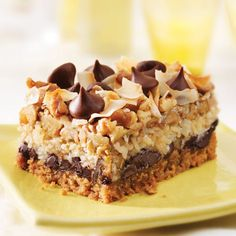 7 Layer Bars - YUMMY - - - mom used to make these when we were kids! Köstliche Desserts, Delicious Desserts, Dessert Recipes, Yummy Food, Yummy Recipes, Healthy Recipes, 7 Layer Cookies, Seven Layer Bars, Yummy Treats
