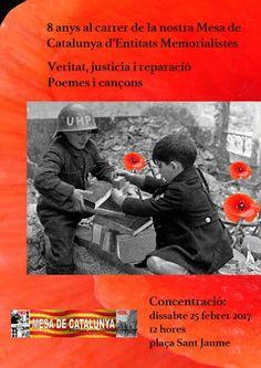Mesa de Catalunya d'Entidats Memorialistes: 8 anys al carrer, Veritat, la Justícia i la Reparació, epicentre de les emocions