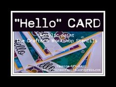 Video tutorial for making some simple cards with acrylic paint and TCW stencils