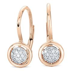 14K ROSE GOLD DIAMOND EARRINGS - DE8954 at Hayden Jewelers, Syracuse NY
