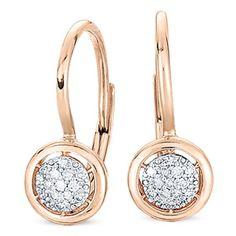 14K ROSE GOLD DIAMOND EARRINGS - DE8954 at Hayden Jewelers, Syracuse NY