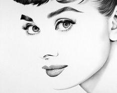 Audrey Hepburn Fine Art Print Pencil Drawing Portrait Hand Signed by the Artist Audrey Hepburn Fine Art Print Bleistift Zeichnung Portrait Audrey Hepburn Zeichnung, Audrey Hepburn Kunst, Audrey Hepburn Drawing, Audrey Hepburn Tattoo, Pencil Portrait, Portrait Art, Pencil Drawings, Art Drawings, Fine Art Drawing