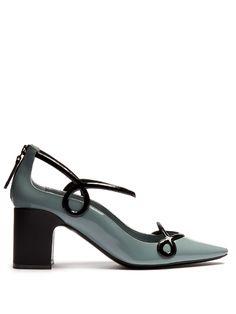 Fabrizio Viti Round 'N' Round patent-leather pumps