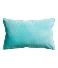 velvet cotton lumbar pillow