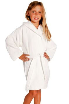Kid's Hooded Waffle 100% Cotton Bathrobe - $9.39 each  small/medium (size 3-6) large size 7-10 - for 12 $115