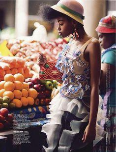 Sharleen Dziire by Ross Garrett for #Elle South Africa January 2013