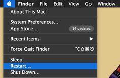 Herstart een Mac